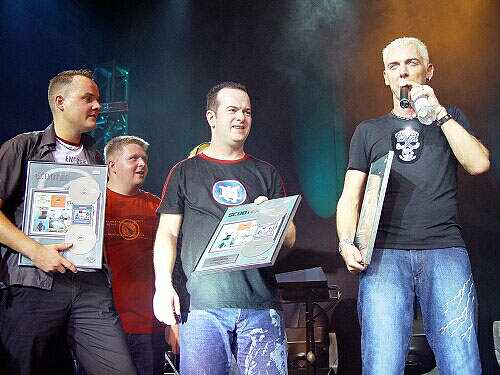 "Scooter receive Hungary Platinum award for ""Push The Beat For This Jam"""